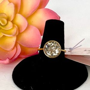 kate spade reflecting pool ring clear and gold